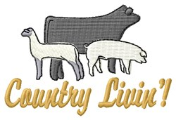 Country Life embroidery design