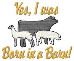 Barn Life embroidery design