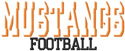 Mustangs Football embroidery design