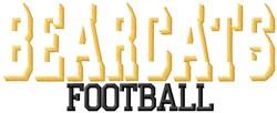 Cincinnati Bearcats Football embroidery design