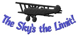 Planes Limit Is Sky embroidery design