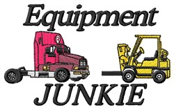 Junkie Equipment embroidery design