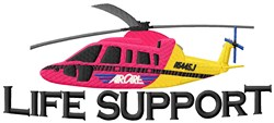 Life Support Copter embroidery design