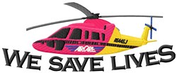 Life Saving Copter embroidery design