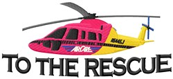 Rescue Copter embroidery design
