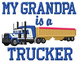 Trucker Grandpa embroidery design