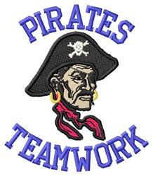 Pirates Teamwork embroidery design