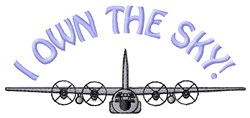 Own The Sky embroidery design