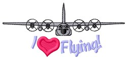 I Love Planes embroidery design