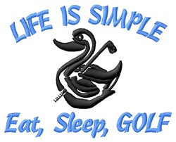 Simplicity Of Golf Life embroidery design