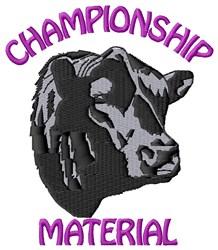 Bull Championship embroidery design