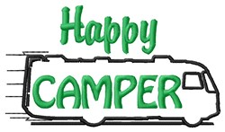 Happy Camper Van embroidery design