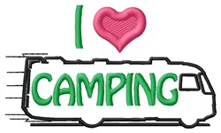 Love Camping embroidery design
