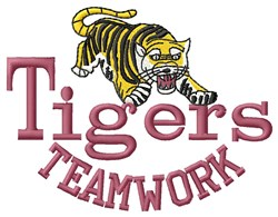 Teamwork Of Tigers embroidery design