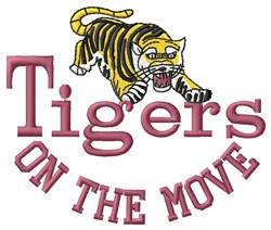 Tigers On The Move embroidery design