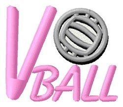 V Ball embroidery design