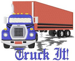Truck It embroidery design