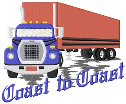 Coast To Coast Truck embroidery design