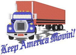 Moving Americans Truck embroidery design