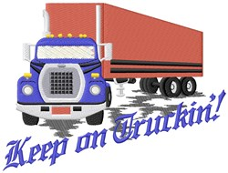Trucking Life embroidery design