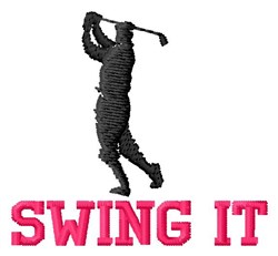 Golfer Swings It embroidery design