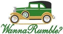 Rumble Car embroidery design