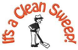 Clean Sweepy Janitor embroidery design