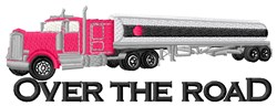 Tanker Over The Road embroidery design