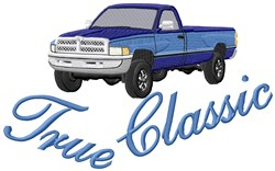 Classic Pickup Truck embroidery design
