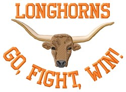Longhorns Way embroidery design