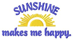Sunshine Happiness embroidery design