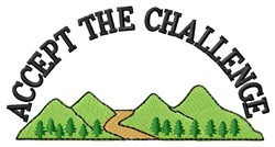 Mountain Trek Challenge embroidery design