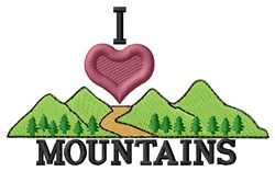 I Love Mountains embroidery design