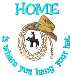 Cowboy Is Home embroidery design