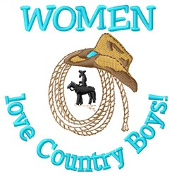 Country Boys embroidery design