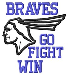 Braves Go Fight embroidery design