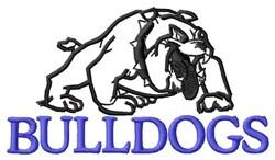 Bulldogs embroidery design