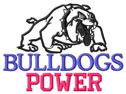 Bulldogs Power embroidery design