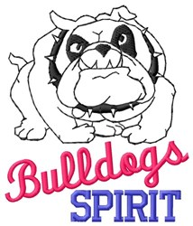 Bulldogs Spirit embroidery design