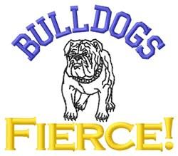 Bulldogs Fierce! embroidery design