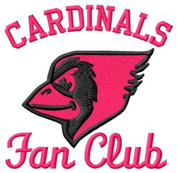 Cardinals Fan Club embroidery design