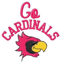 Go Cardinals embroidery design