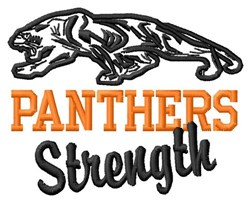 Panthers Strength embroidery design