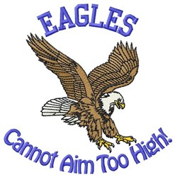 Eagles Aim embroidery design