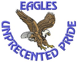 Eagles Unprecedented Pride embroidery design