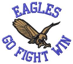 Eagles Go Fight Win embroidery design