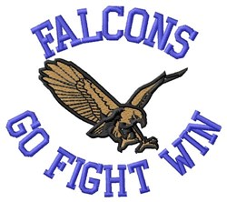 Falcons Go Fight Win embroidery design