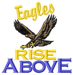 Eagles Rise Above embroidery design