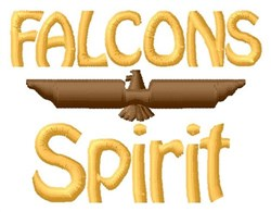 Falcons Spirit embroidery design
