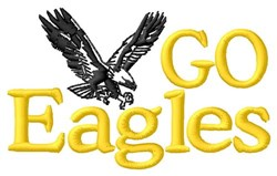 Go Eagles embroidery design